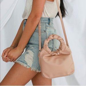 Pink Scrunchie Crossbody Handbag